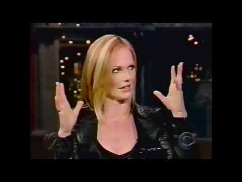 Marg Helgenberger  David Letterman 2003