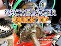 Snwoblower Quick Tip #2 Honda Drive Shaft Pin