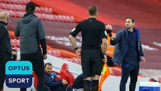 Jurgen Klopp reacts to Frank Lampard's sideline outburst