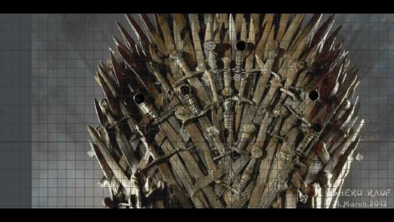 game of throne chair covers for folding chairs amazon my tribute thrones making the 3d youtube