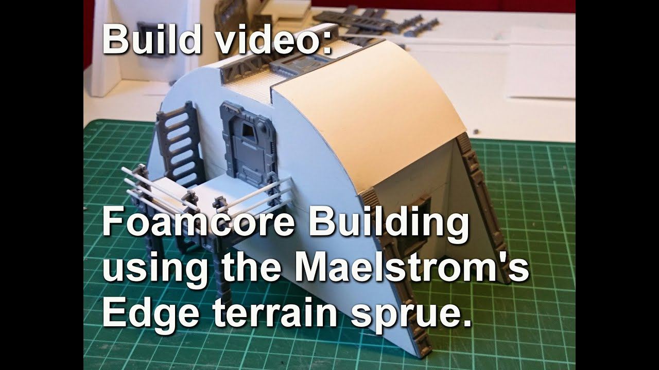 Maelstrom's Edge Terrain Sprue - Foamcore Building