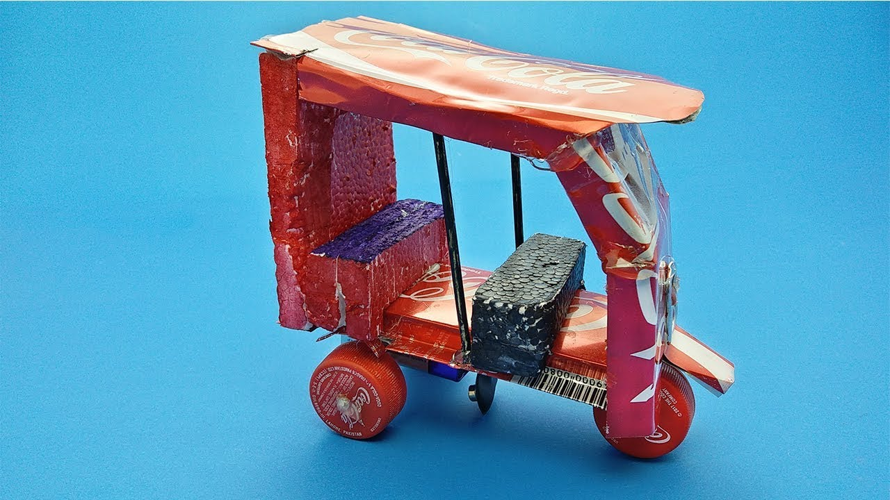 Download How to Make Electric Rickshaw (TUK TUK) With Coca-Cola Cans