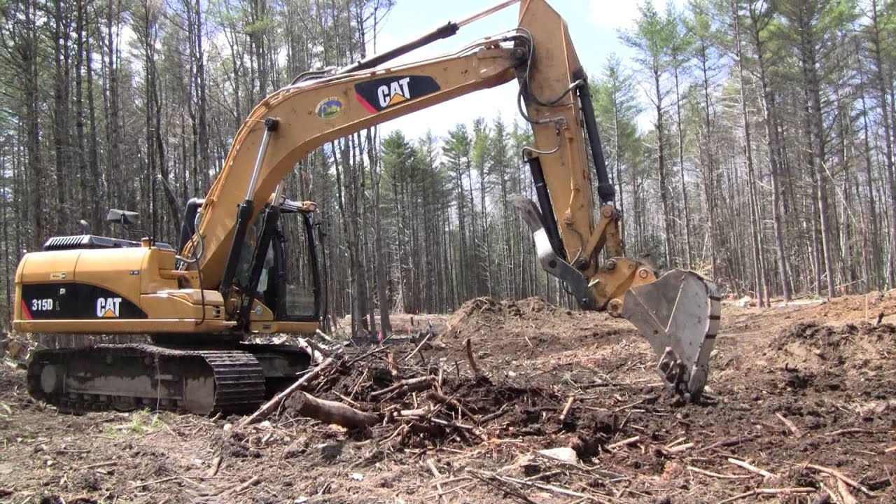 Cat 315dl Clearing Brush Youtube