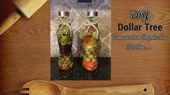 DOLLAR TREE DIY | Decorative Vegetable Bottles...