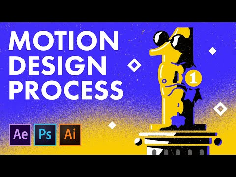 Motion Design Process In After Effects Illustrator & Photoshop - Tutorial