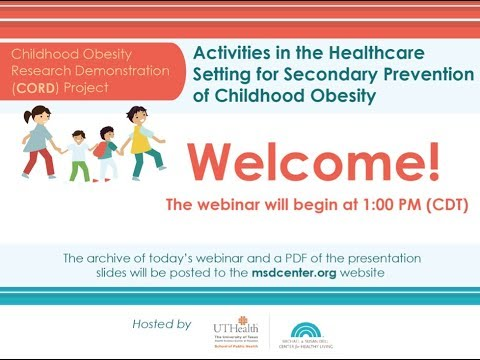 Activities in the Healthcare Setting for Secondary Prevention of Childhood Obesity