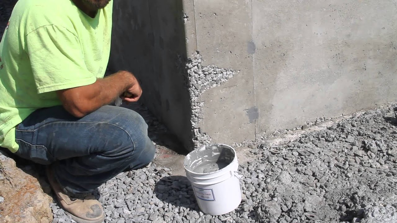 Honeycomb Fills Concrete Holes Deco Wall Tie Patch Youtube
