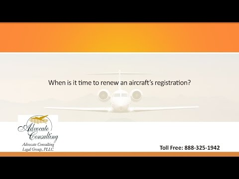 When is it time to renew an aircraft's registration?
