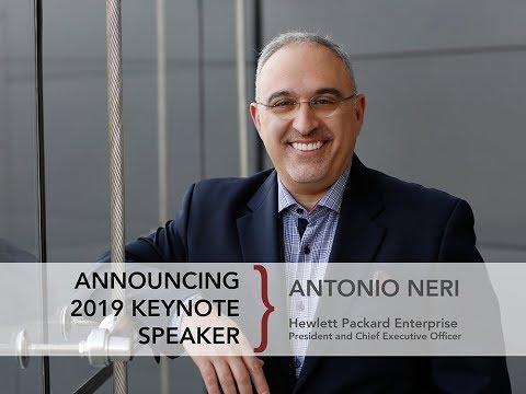 Announcing keynote speaker: Antonio Neri, President and CEO of Hewlett Packard Enterprises