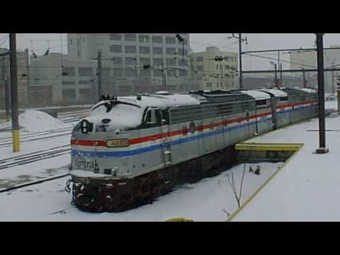 Thumbnail: AMTRAK sunnyside in winter with narrative