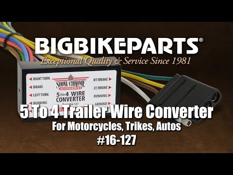 five flat trailer wiring diagram 16 127 five to four trailer wire converter youtube  five to four trailer wire converter