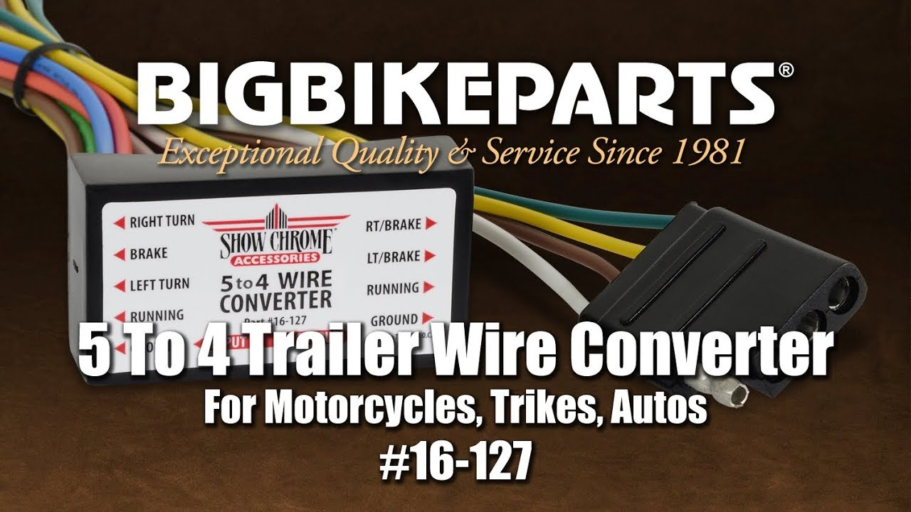 hight resolution of 16 127 five to four trailer wire converter