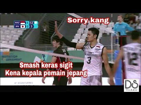 SMASH KERAS SIGIT ARDIAN KENA KEPALA PEMAIN JEPANG | ASIAN GAMES