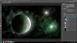 создание космоса в  Adobe Photoshop CS6