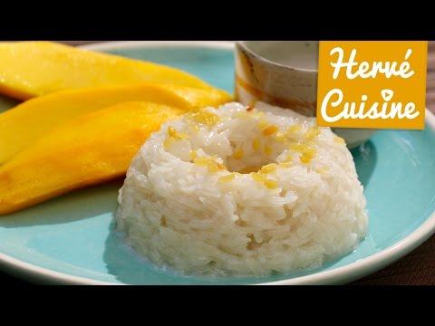 dessert-thaï-typique-:-gâteau-de-riz-gluant-coco-et-mangue-fraîche