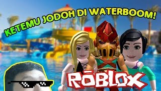 MAININ ALL RIDES AT THE WATERPARK FREE! | ROBLOX Indonesia | Waterpark