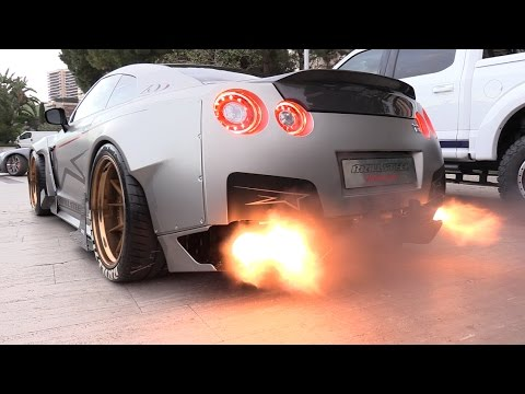 Thumbnail: 1750HP Nissan GT-R FROM HELL!! Start, Revs & FLAMES!