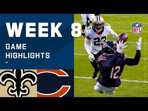 Saints vs. Bears Week 8 Highlights | NFL 2020