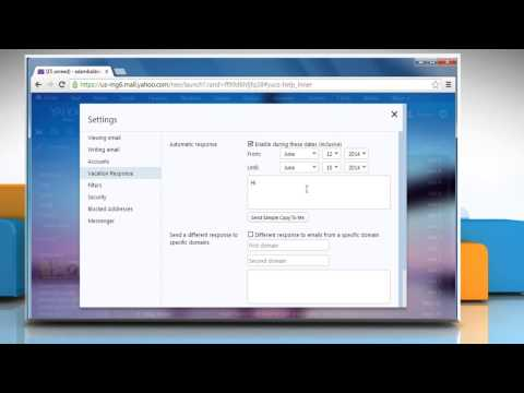 How to set up Auto Reply in Yahoo!® Mail