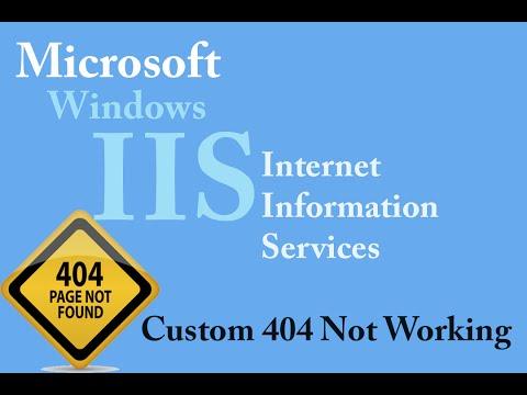 Windows IIS - custom 404 page not working (Windows 10, 8, 7)