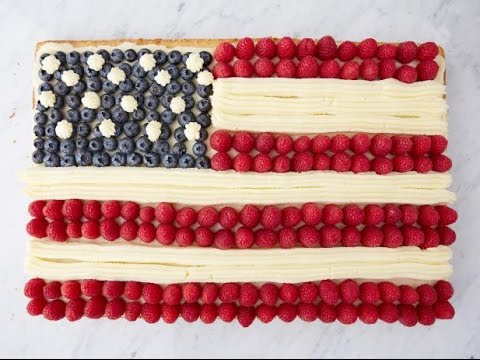 How To Make Ina's American Flag Cake | Food Network