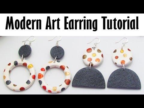 Polymer Clay Project Tutorial: Modern Art Earring Tutorial