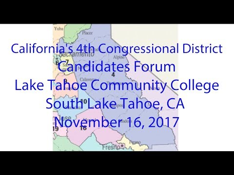 District 4 US House Democratic Candidates Forum, South Lake Tahoe