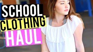 HUGE Back To School Try On Clothing Haul Kenzie Elizabeth