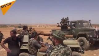 بالفيديو والصور... الجيش السوري يسيطر على نقاط هامة بمحور خط البترول الاستراتيجي في البادية