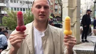 Durchsexualisierung der Gesellschaft und Kinder !  Lusty Ice auf dem Startup Food Market in Berlin