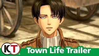 Attack on Titan 2 - Town Life Trailer