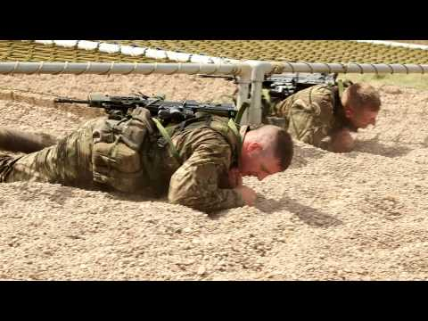 Commando Training Centre Royal Marines assault course