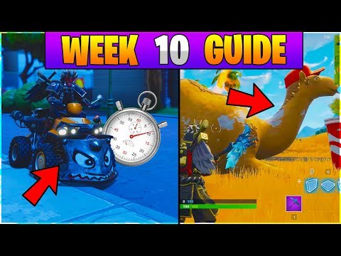 Fortnite ALL Season 6 Week 10 Challenges GUIDE! VEHICLE TIME TRIAL LOCATIONS Fortnite Battle Royale