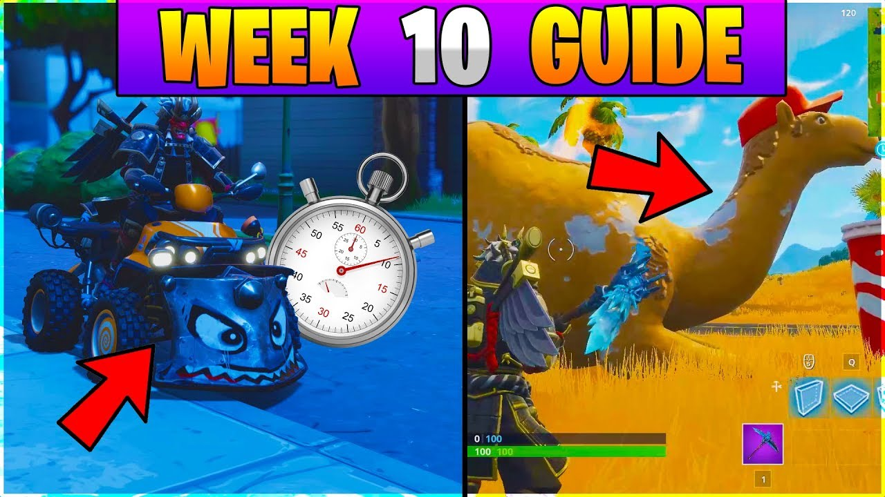 Fortnite All Season 6 Week 10 Challenges Guide Vehicle Time Trial