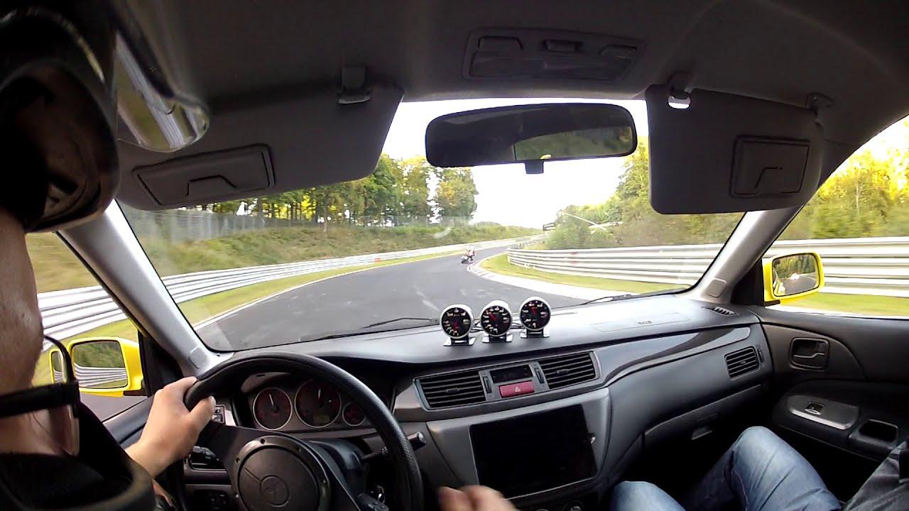 Lancer Evolution IX Nurburgring Nordschleife POV Onboard 17 09 2014 - 3