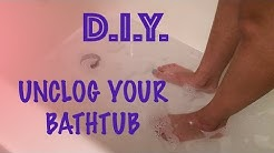 How to Unclog a Bathtub Drain (Eco-Friendly)