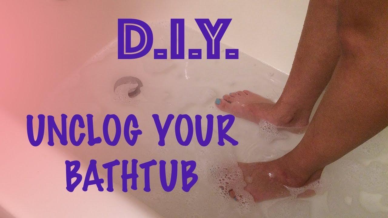 How To Unclog A Bathtub Drain Eco Friendly YouTube