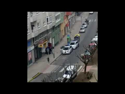 Aplausos de vecinos en Lugo al arresto de un septuagenario que se negó a confinarse