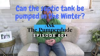 Can the septic tank be pumped in winter? | D & J Septic Services South Lyon, MI