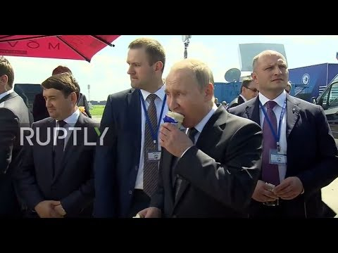 Russia: 'You can afford it!' Putin buys officials ice cream at MAKS Air Show