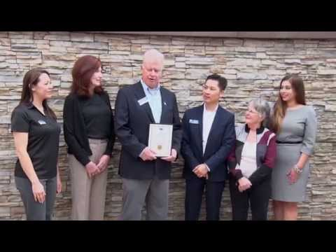 Laguna Niguel chamber of commerce ribbon cutting for Cruise Planners/Riviera Vacations