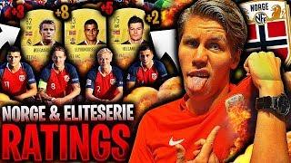 ABSOLUTT alle NORSKE RANGERINGER på ELITESERIEN & LANDSLAGET 🚨💥 *EKSKLUSIVE rangeringer FIFA 19*