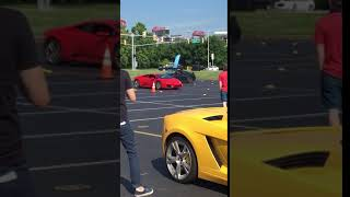 Riding in a Lamborghini