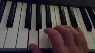 how to play a g augmented chord on piano