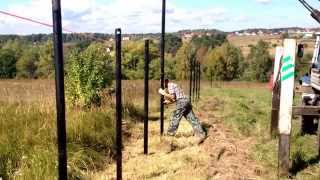 видео Забор на винтовых сваях - как поставить ограждение своими руками?