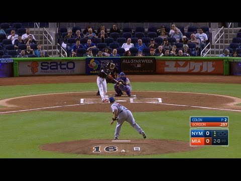 NYM@MIA: Gordon leads the game off with a solo homer
