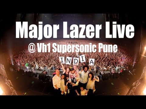 Major Lazer Live @  Vh1 Supersonic 2018 Pune India (Exclusive)