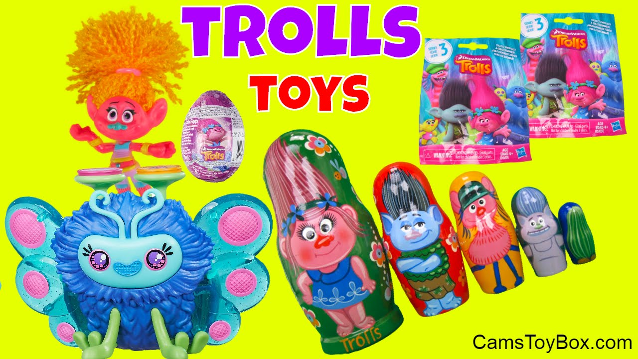 30f1b2683b Dreamworks Trolls Stacking Cups Blind Bags Series 2 3 Chocolate Egg Surprise  Opening Fun Toys Kids