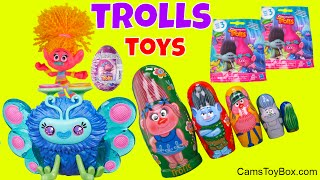 Dreamworks Trolls Stacking Cups Blind Bags Series 2 3 Chocolate Egg Surprise Opening Fun Toys Kids
