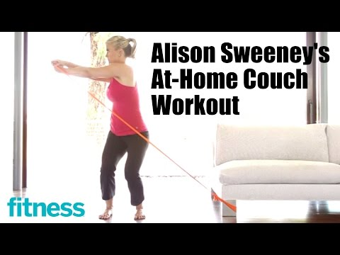 Alison Sweeney's AtHome Couch Workout  Fitness